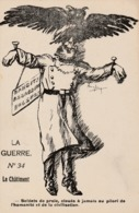 """La Guerre - Carte Caricaturale """" Le Châtiment """" - Oorlog 1914-18"""