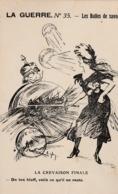 """La Guerre - Carte Caricaturale """"Les Bulles De Savon """" - Oorlog 1914-18"""