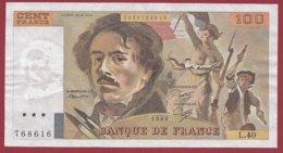 """100 Francs """"Delacroix"""" 1980 ---VF/SUP--ALPH L.40 - 100 F 1978-1995 ''Delacroix''"""