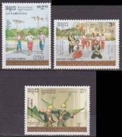 Série De 3 TP Neufs ** N° 806/808(Yvert) Kampuchea 1988 - Culture Khmère - Kampuchea