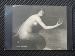 CPA Inédite Non écrite - Siréne Avec Couronne - Gemälde