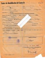 33 - Ste FOY La GRANDE  - Centre De Démobilisation Du  Canton De ........   ( 20 Cm X 26 Cm )  En L'état - Historical Documents