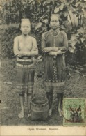 British North Borneo, SABAH, Native Dayak Women (1909) Postcard - Malaysia