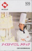 Télécarte Japon / 110-143836 - Femme Chef Cuisine - NISSAY / 1 - GIRL Japan Phonecard - Frau Versicherung TK - Assu 6155 - Japan