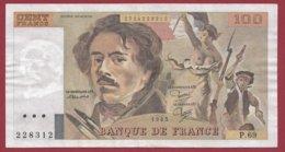 "100 Francs ""Delacroix"" 1982 ---F/TTB+--ALPH P.69 - 100 F 1978-1995 ''Delacroix''"