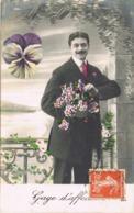 33918. Postal Romantica CHAZÉ Sur ARGOS (Maine Et Loire) 1911. AMBULANT Ferrocarril NANTES - Francia