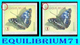 R117(x2) - Papillon Petit Mars Changeant (différence De Dentelure Et Couleur Jaune Et Vert, Tanding En Kleurverschil ... - Coil Stamps