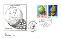 Sobre De Primer Dia De  San Marino 1179/80 - Europa-CEPT