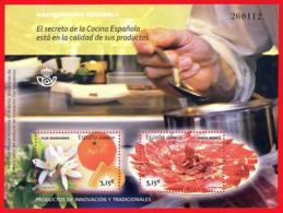 España. Spain. 2014. HB. Gastronomia Española. Cocina Tradicional. Jamon Iberico. Naranja - 2011-... Ongebruikt