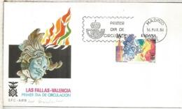 ESPAÑA SPD 1984 FALLAS DE VALENCIA FIESTA - Fiestas