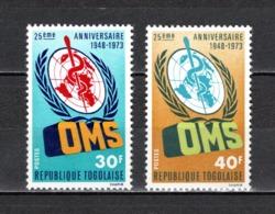 TOGO N°  764 + 765  NEUFS SANS CHARNIERE COTE  2.20€  OMS - Togo (1960-...)