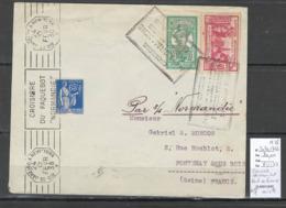 France -Lettre - Croisiere Du Normandie - 1938 - Martinique - - Postmark Collection (Covers)
