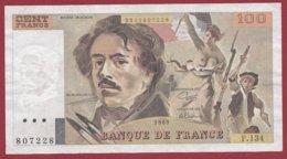 """100 Francs """"Delacroix"""" 1989 ---VF/SUP--ALPH F.134 - 100 F 1978-1995 ''Delacroix''"""