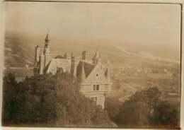 140919 - PHOTO ANCIENNE DEBUT XXème - 18 SANCERRE Vue Prise Du Haut De La Grande Tour - Famille De CRUSSOL Gotha - Sancerre