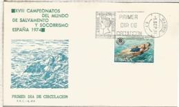 ESPAÑA SPD 1974 NATACION RESCUE SWIMMING - Natación