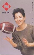 Télécarte Japon / 330-15164 - Femme Sport RUGBY - NISSAY - GIRL Japan Phonecard - Frau Versicherung TK - Assu 6159 - Japan