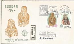 ESPAÑA SPD 1974 EUROPA CEPT ARQUEOLOGIA ARTE ESCULTURA - Arqueología