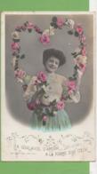 """CPA """"La Guirlande D'amour A La Forme D'un Cœur"""" 1907 - Feiern & Feste"""