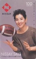 Télécarte Japon / 330-16187 - Femme Sport RUGBY - NISSAY - GIRL Japan Phonecard - Frau Versicherung TK - Assu 6160 - Japon