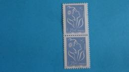France 2008 Type Marianne De Lamouche 1,25€  Bleu Ciel -  Paire Neuve Sans Gomme - 2004-08 Marianna Di Lamouche