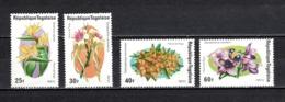 TOGO N°  827 à 830  NEUFS SANS CHARNIERE COTE  4.00€  FLEUR - Togo (1960-...)
