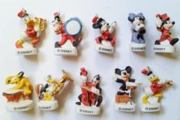 Fève -fèves Série Complète Disney Mate Filet Or Musiciens Musique Mickey,Daisy..... - Disney