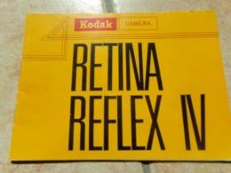 Instructions Notice Kodak  Retina Reflex 4 Iv  Camera Anglais - Otros