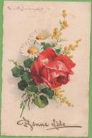CPA Bonne Fête Fleurs Circulée - Feiern & Feste