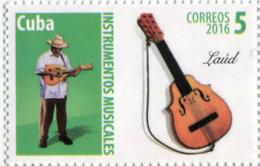 Lote CU2016-3, Cuba, 2016, Sello, Stamp, Instrumentos Musicales,  5 V, Musical Instruments, Musicians - Cuba