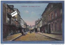 Carte Postale 50. Carentan  Rue Holgate Très Beau Plan Animé - Carentan