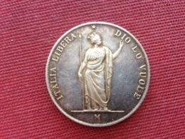 ITALIE LOMBARDIE  Monnaie De 5 Lire 1848 Copie ???? 23 Grs Superbe état - Monnaies Régionales
