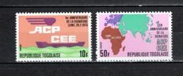 TOGO N°  863 + 864  NEUFS SANS CHARNIERE COTE  1.30€  BATEAUX CARTE DE L'AFRIQUE - Togo (1960-...)