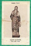 Liessies (59) Statue De Sainte Hiltrude 2scans 10,3 X 6,7 Cm - Images Religieuses