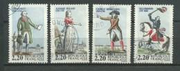 FRANCE: Obl., N°2592 à 2595, TB - Frankreich