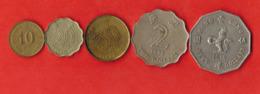 Hong Kong 5 Coins Set 1976-1998 - Hong Kong