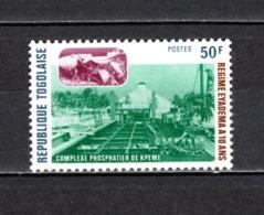 TOGO N°  889  NEUF SANS CHARNIERE COTE  1.00€  REGIME D'EYADEMA INDUSTRIE TRAIN - Togo (1960-...)