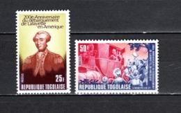 TOGO N°  906 + 907  NEUFS SANS CHARNIERE COTE  2.00€  LA FAYETTE - Togo (1960-...)