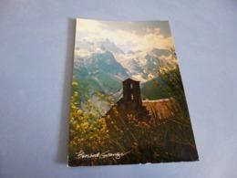 BELLE CARTE ...VIE EN MONTAGNE ..SIGNE  BERNARD GRANGE ...FLAMME MONTGENEVRE 18-8-1983 - Illustrateurs & Photographes