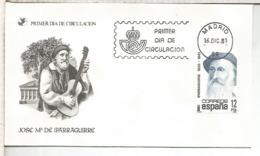 ESPAÑA SPD 1981 IPARRAGUIRRE POESIA POETRY - Escritores