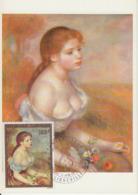 Carte-Maximum GABON N°Yvert PA 148 / RENOIR / Jeune Fille Aux Fleurs - Gabon (1960-...)