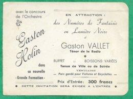 Imp. Lanciaux à Aniche (59) Orchestre Gaston Holin & Gaston Vallet Ténor De La Radio 2scans 13,5 X 9,9 Cm - Faire-part