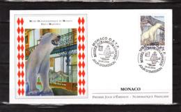 """"""" MUSEE OCEANOGRAPHIQUE DE MONACO : URSUS MARITIMUS / OURS """" Sur Enveloppe 1er Jour De 2010. N° YT . Parf état FDC - Ours"""