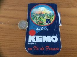 AUTOCOLLANT, Sticker «KEMO FRANCE - Habillé En Île De France» (blason, Vêtement) - Autocollants