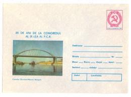 IP 85 - 45 DANUBE, Bridge - Stationery - Unused - 1985 - Bridges