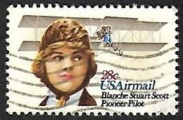 ETATS UNIS  1980 -   YT  PA 93   -   Blanche Stuart Scott    - Oblitéré - Poste Aérienne