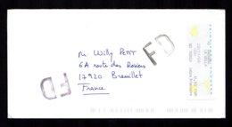 ANDORRE Lettre Etiquette Guichet N°2 ANDORRA La Vella 20/11/08 Fausse Direction Gros FD De 17-PDC- ROCHEFORT Dos TTB/SU - Lettres & Documents
