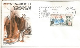 ESPAÑA SPD 1980 IV CENTENARIO FUNDACION DE BUENOS AIRES - 1931-Hoy: 2ª República - ... Juan Carlos I