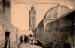 OUDJDA (Oujda Maroc)  - Une Rue Arabe Et Bureau De L'Etat Major - Animée  - 2 Scans - Marocco
