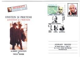 COV 06 - 10 ALBERT EINSTEIN & Neils Bohr, Romania - Cover - Used - 2005 - Albert Einstein