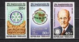TOGO N° 974 à 976  NEUFS SANS CHARNIERE COTE  2.25€   ROTARY INTERNATIONAL - Togo (1960-...)